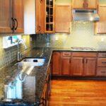 Green Glass Tile Kitchen Backsplash