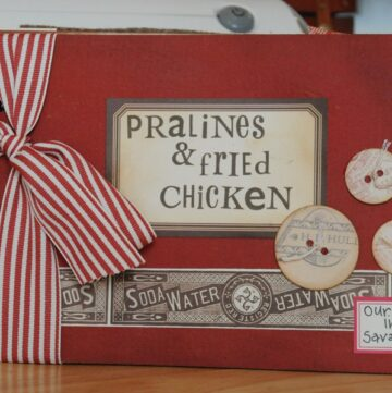 Mini Scrapbooks & Fried Chicken….