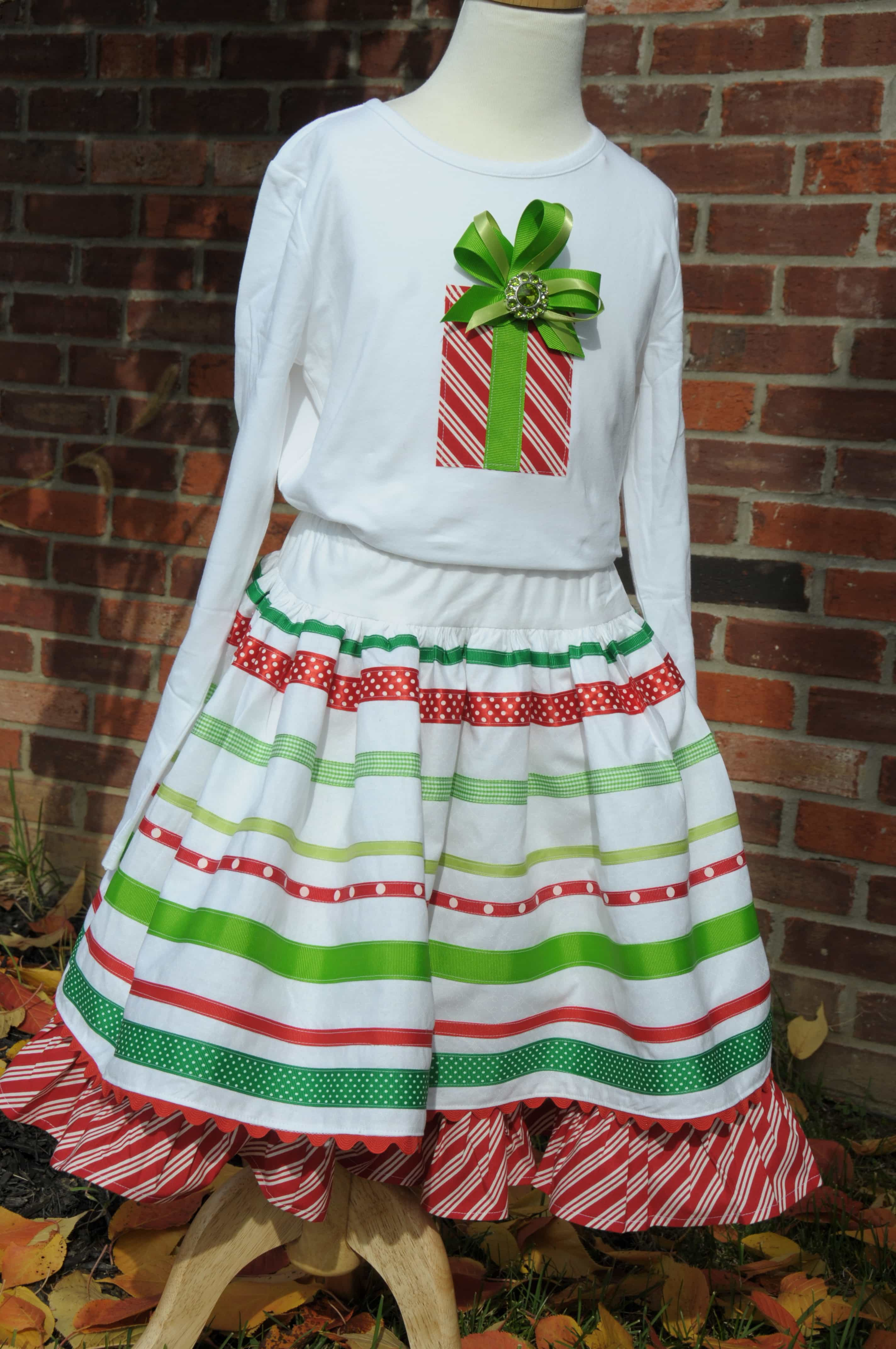 ribbon skirt sewing tutorial embellished t