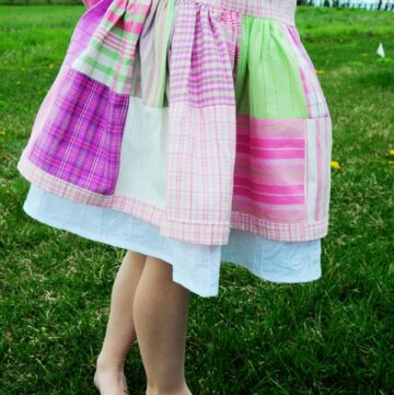 Tutorial: Madras Plaid Skirt from Charm pack..