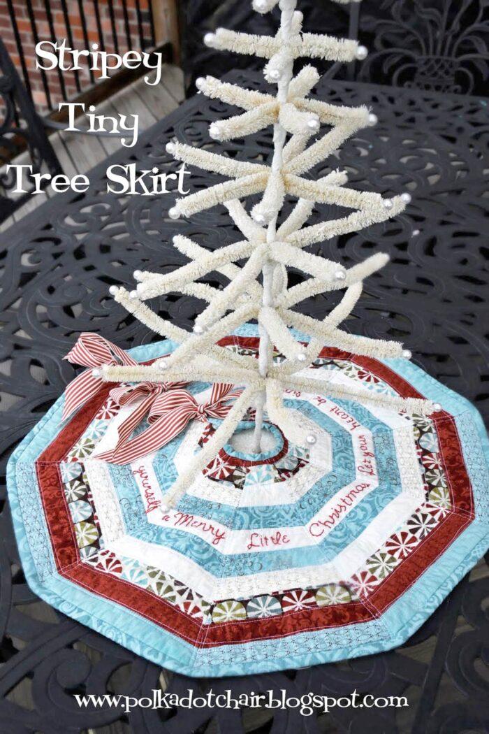 Christmas Tree Skirt Patterns Free.How To Make A Mini Christmas Tree Skirt Polka Dot Chair