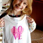 Valentine's Day t-shirt tutorial…