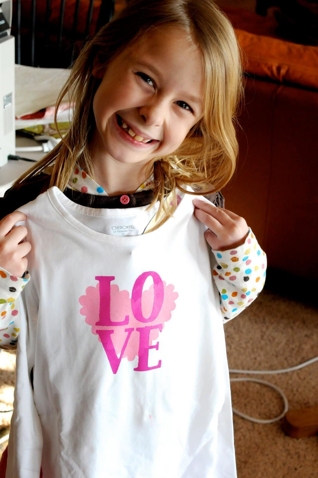 Valentine S Day T Shirt Tutorial The Polka Dot Chair