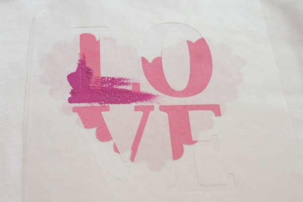 DIY Valentine's Day T-shirt Freezer Paper Stenciling Technique