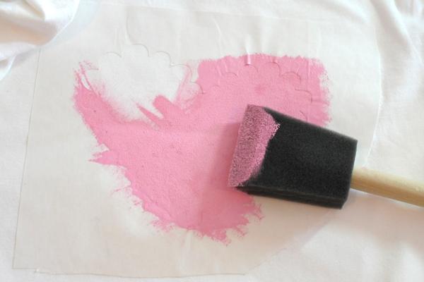 DIY Valentine's Day T-shirt Freezer Paper Stenciling Technique