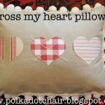 Cross My Heart Pillow Tutorial