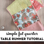 Fat quarter table runner