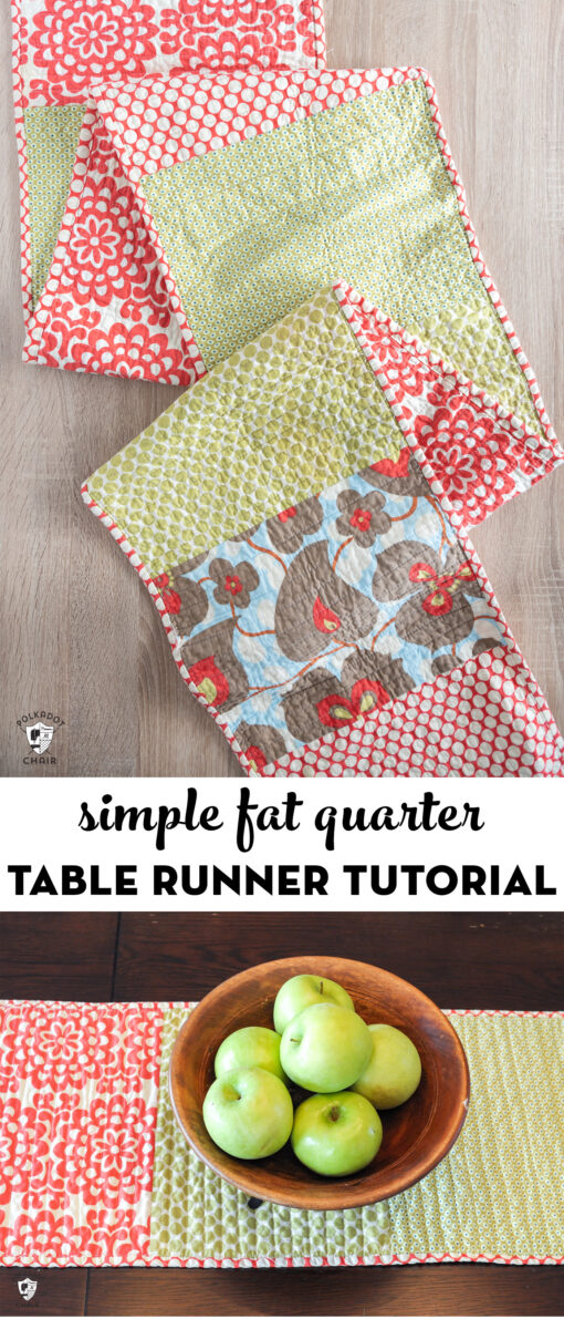 Fat quarter table runner