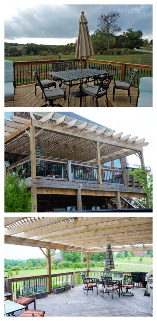 add a pergola to a deck