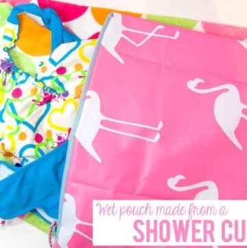 Zippered Wet Pouch made from a Shower Curtain