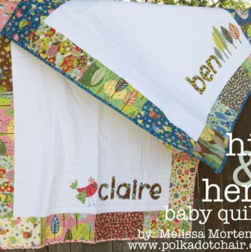 Free Quilt Tutorial: His & Hers Personalized Baby Quilts