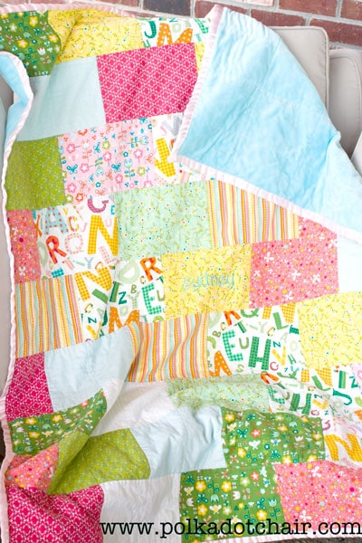 """""""Snuggly Bricks"""" Free Easy to Sew Pattern designed by Melissa from the Polka Dot Chair"""