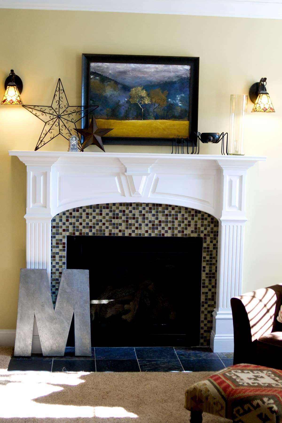 1800s Country Homes: Fireplace Tile, Before & After