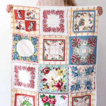 Vintage Hankie Quilt Pattern
