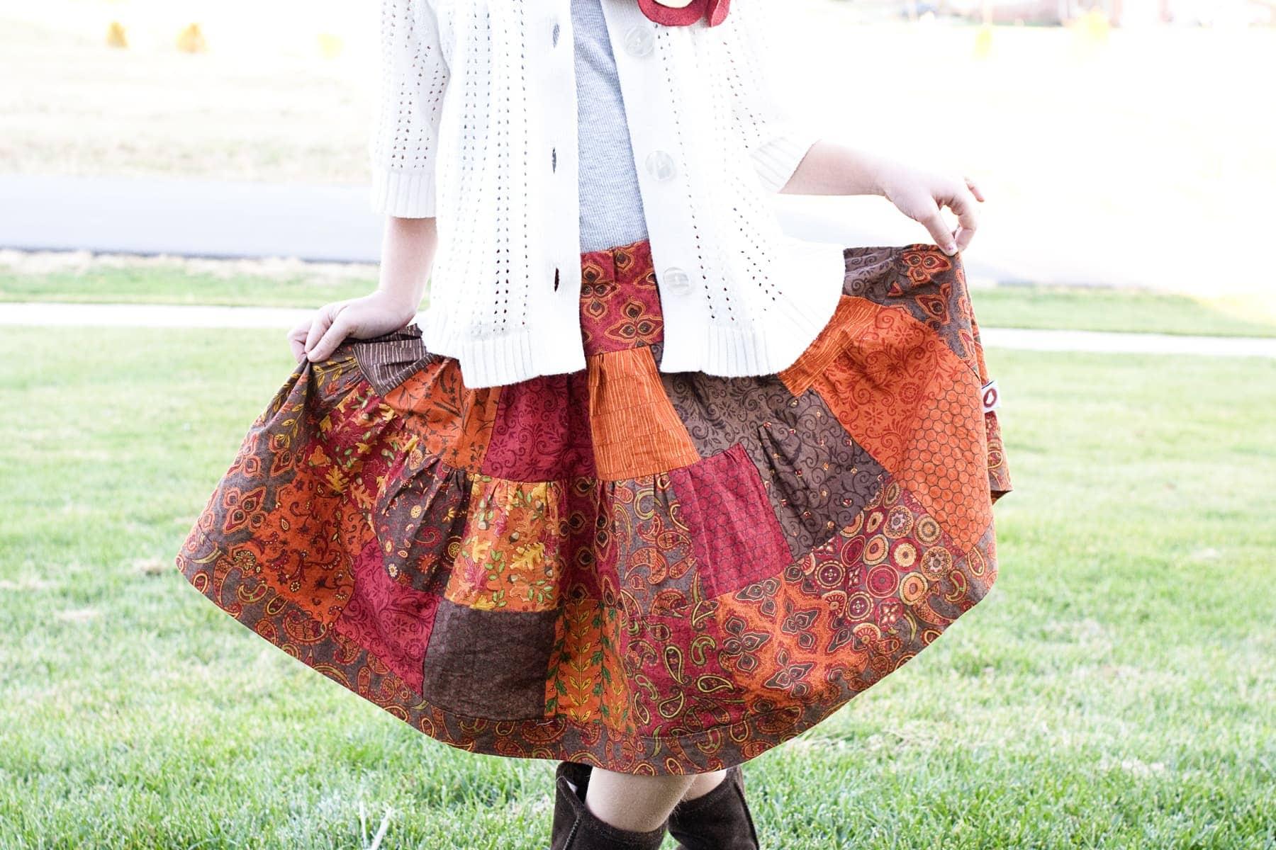 Tuesday Tutorial Patchwork Skirt - The Polkadot Chair