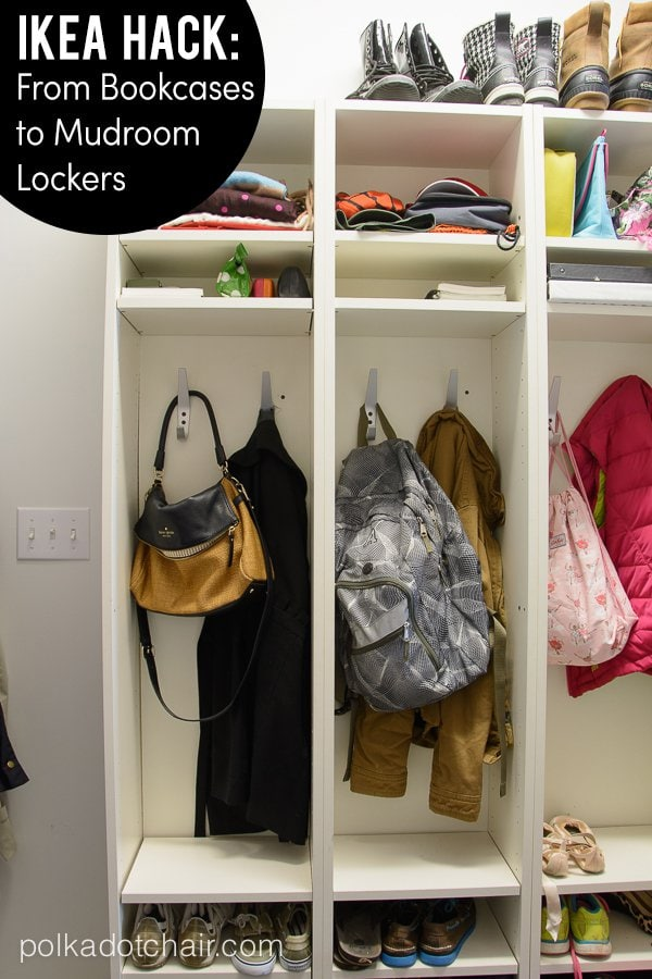 Ikea Over Bed Table On Wheels ~ Make your own mud room lockers The Polkadot Chair