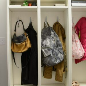 Mudroom Lockers made from IKEA Bookcases - IKEA Hack