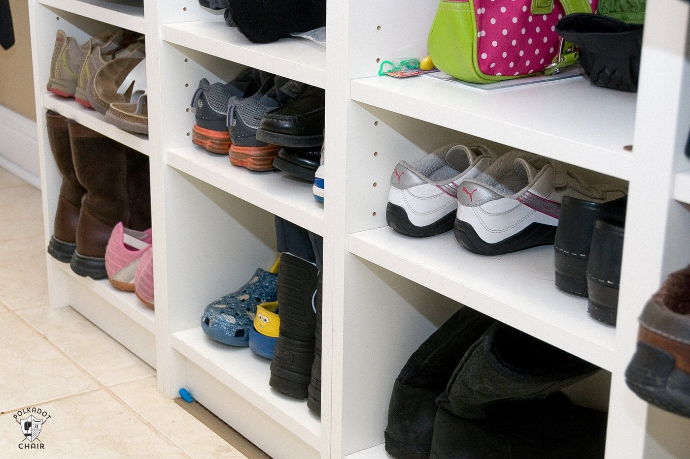Shoes on shelf