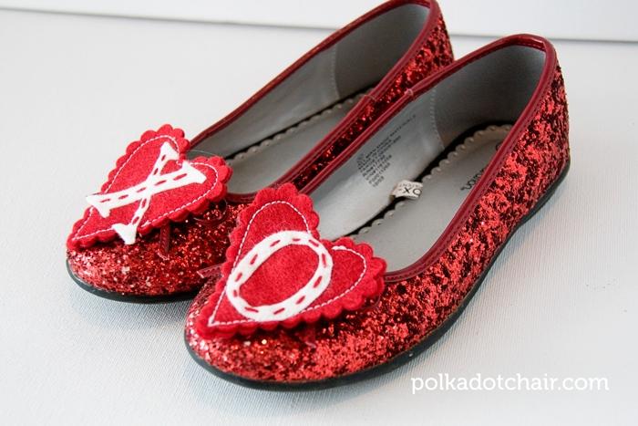 DIY Heart Shoe Clips
