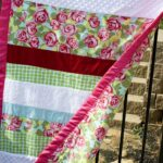 Satin and Flannel Baby Quilt