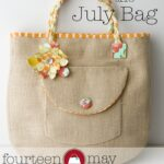 Introducing the July Bag! Plus…Fabric Flower tutorial