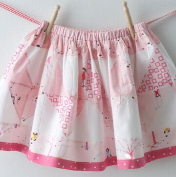How to Sew a Skirt for a Little Girl; tutorial for a Patchwork Zig Zag Skirt