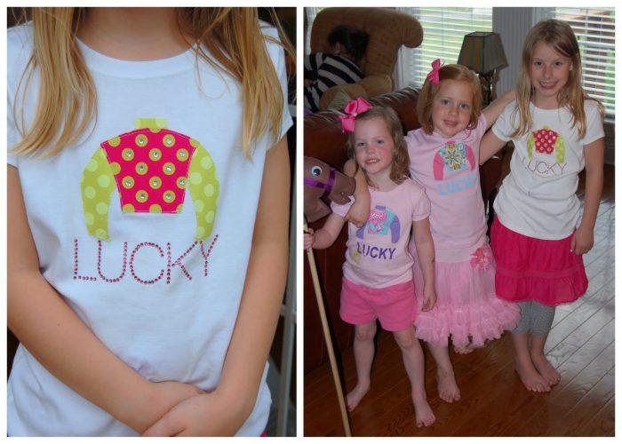 DIY Girls Kentucky Derby T-Shirts