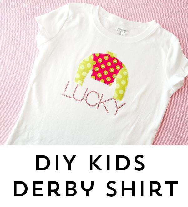 DIY Kids Kentucky Derby Applique Shirt