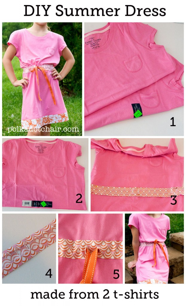 DIY Summer Dress made from T-Shirts