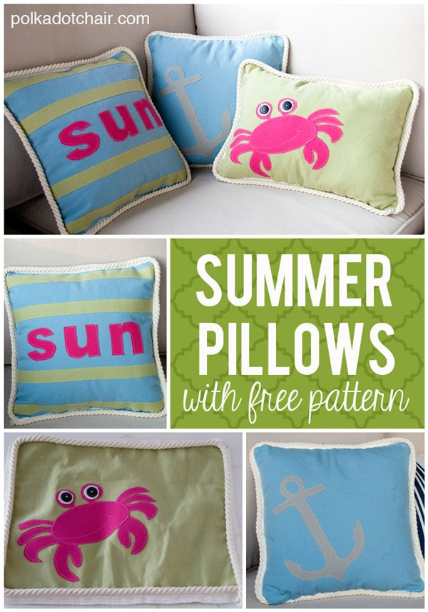 DIY Summer Pillows