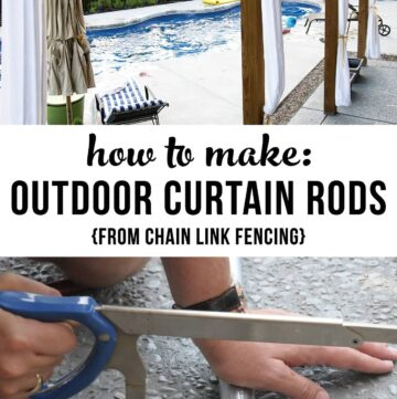 Hanging Outdoor Drapes & DIY Outdoor Curtain Rods