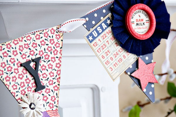 DIY 4th of July Pennant