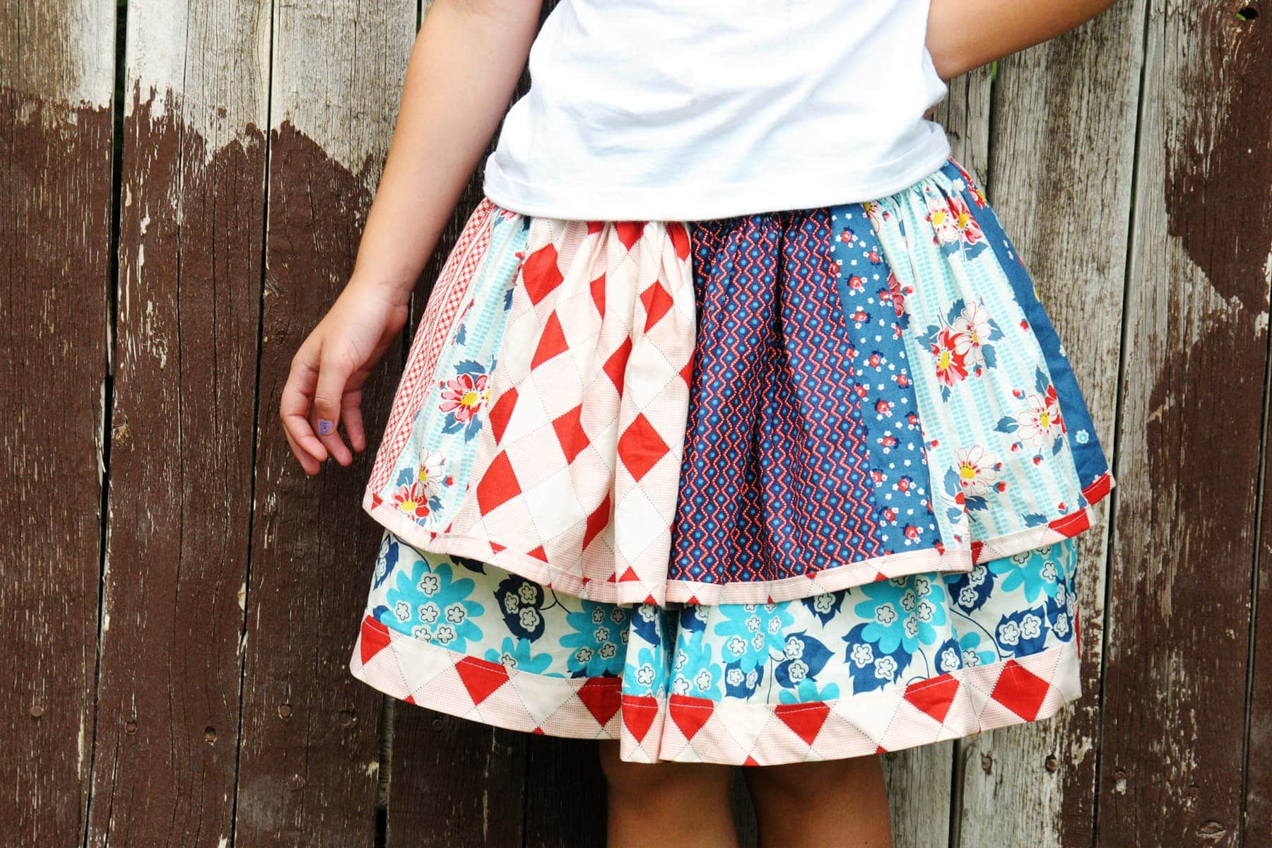 Scrappy Skirt How To Tutorial The Polkadot Chair