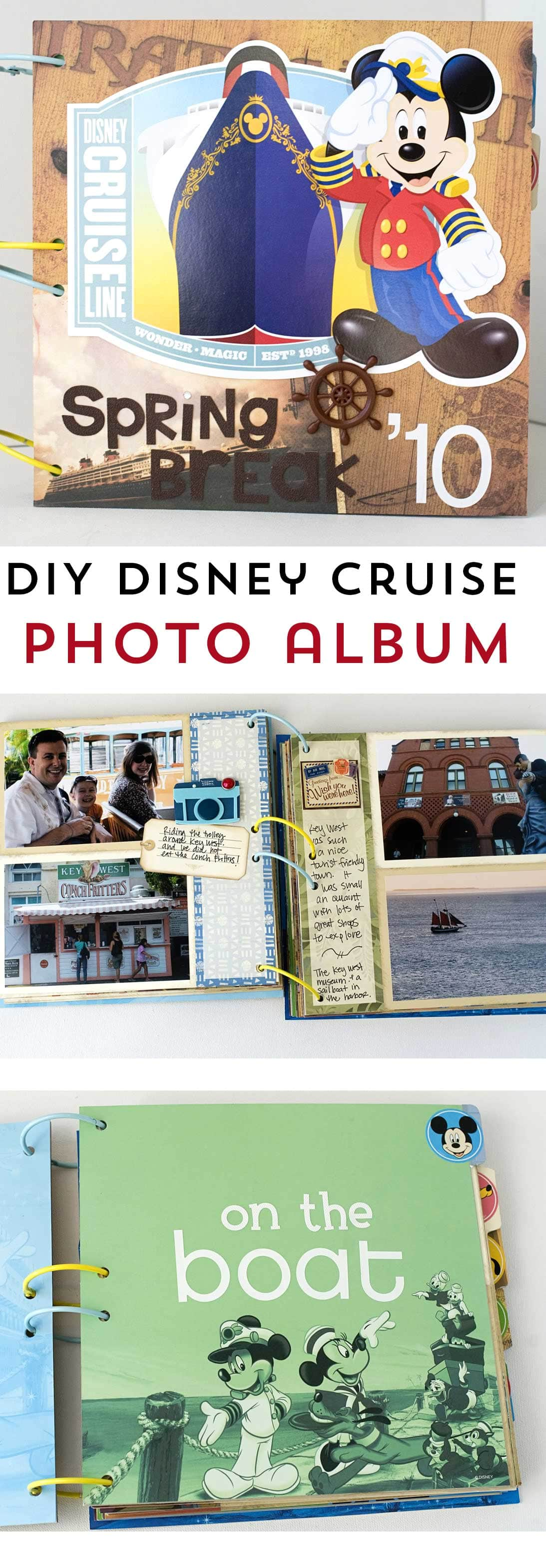 Learn how to easily create a custom photo album or scrapbook of your Disney Cruise Vacation