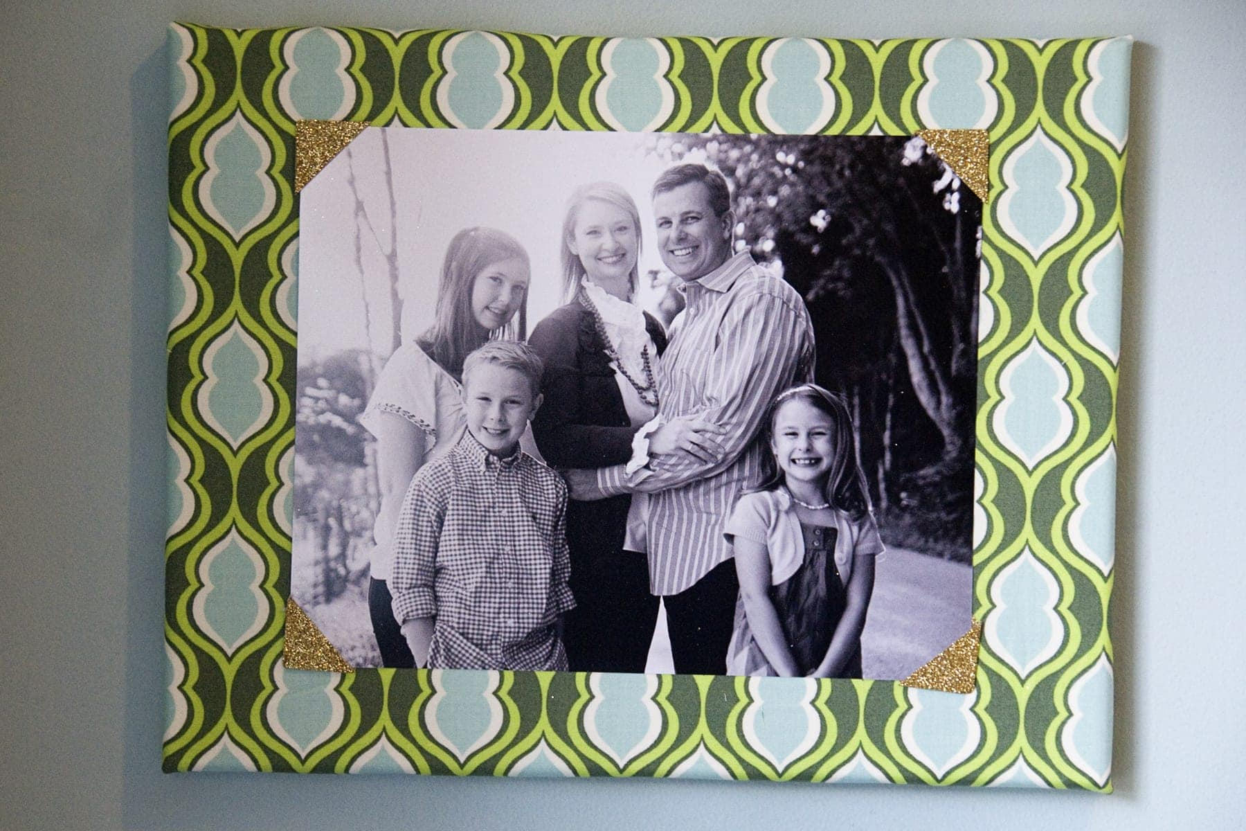Fabric Covered Canvas Photo Frames