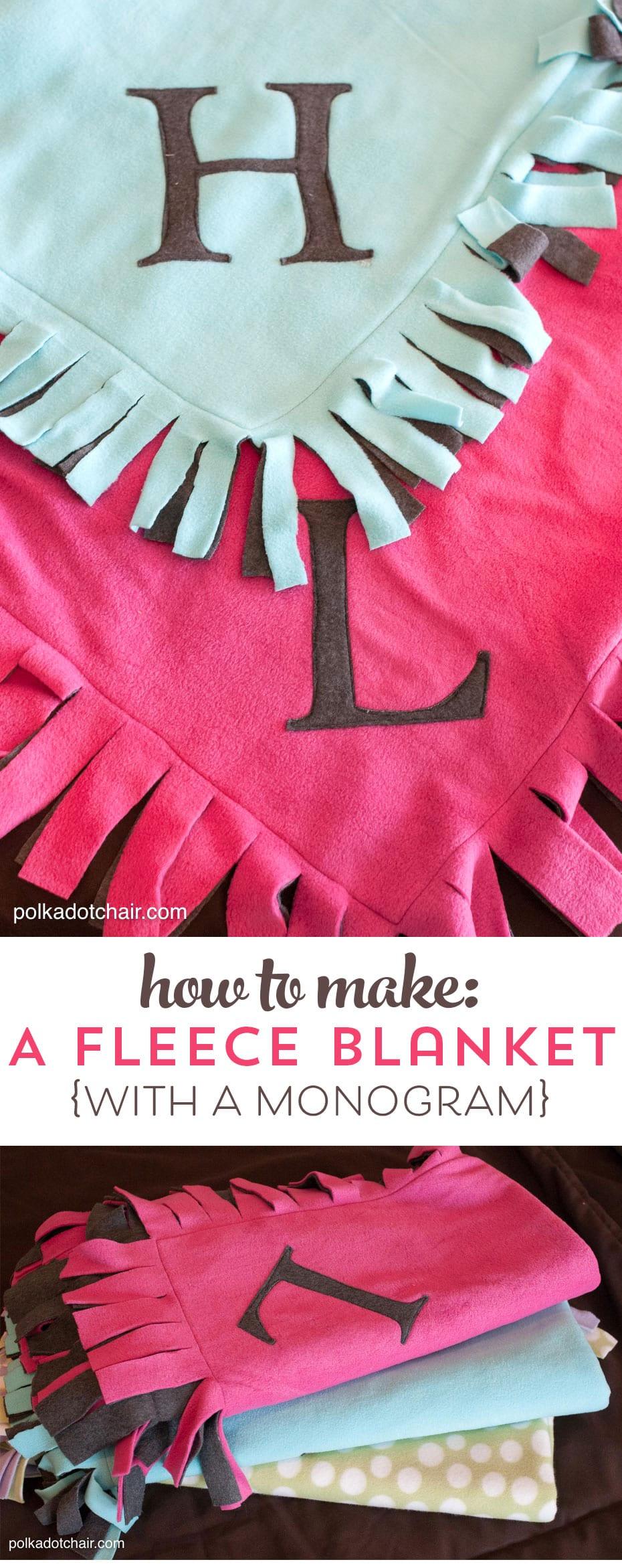 Easy Peasy Fleece Blanket Tutorial The Polkadot Chair