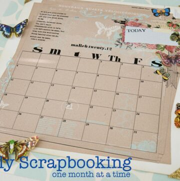 A Family Scrapbook, one month at a time