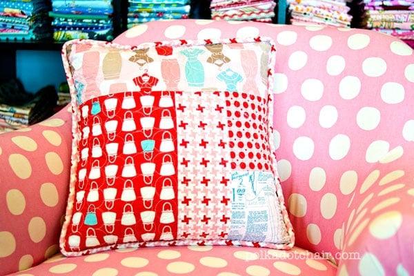 Very Patchwork Pillow Tutorial - The Polkadot Chair LK24