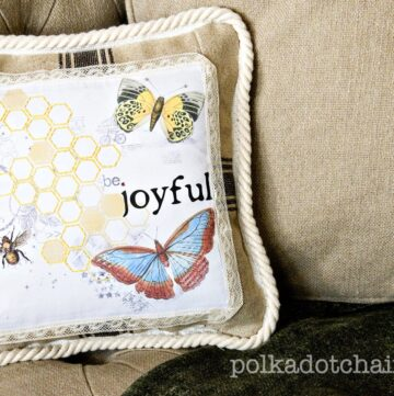 Tutorial: Pillow made with printable fabric