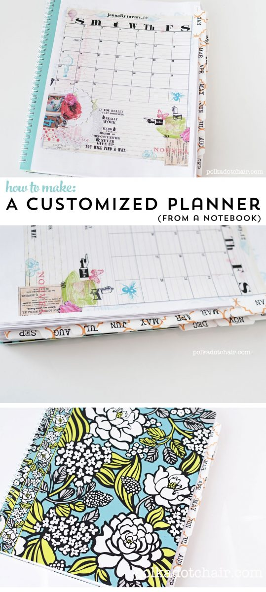 How to hack a notebook into a fully customized planner (and idea sketch book)!