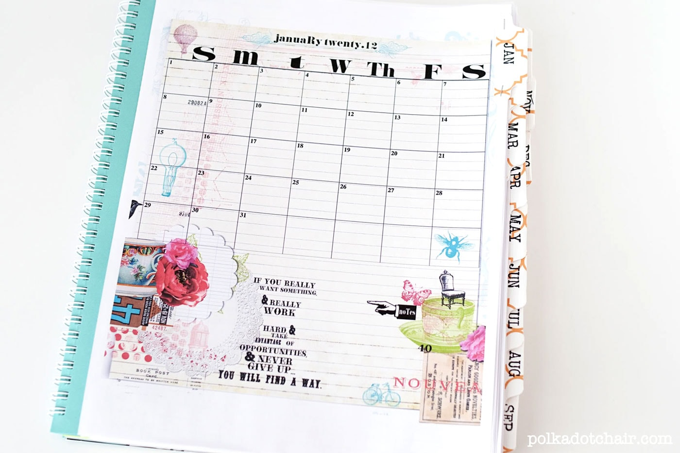 Diy Calendar Notebook : Easy diy planner sketchbook the polka dot chair
