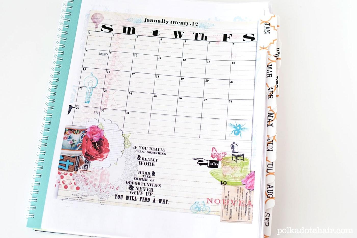 Easy Diy Planner Amp Sketchbook The Polka Dot Chair