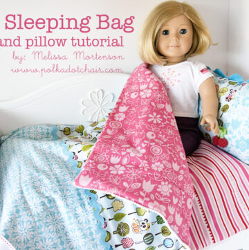 American Girl Doll Sleeping Bag Sewing Tutorial