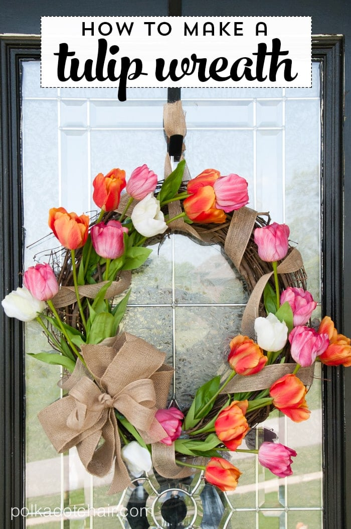 How To Make A Tulip Wreath On