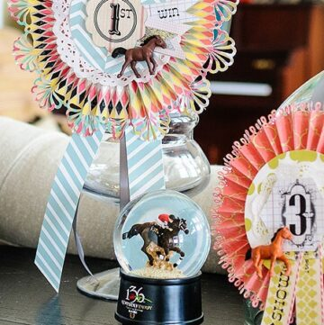 Win, Place & Show Ribbons Centerpiece