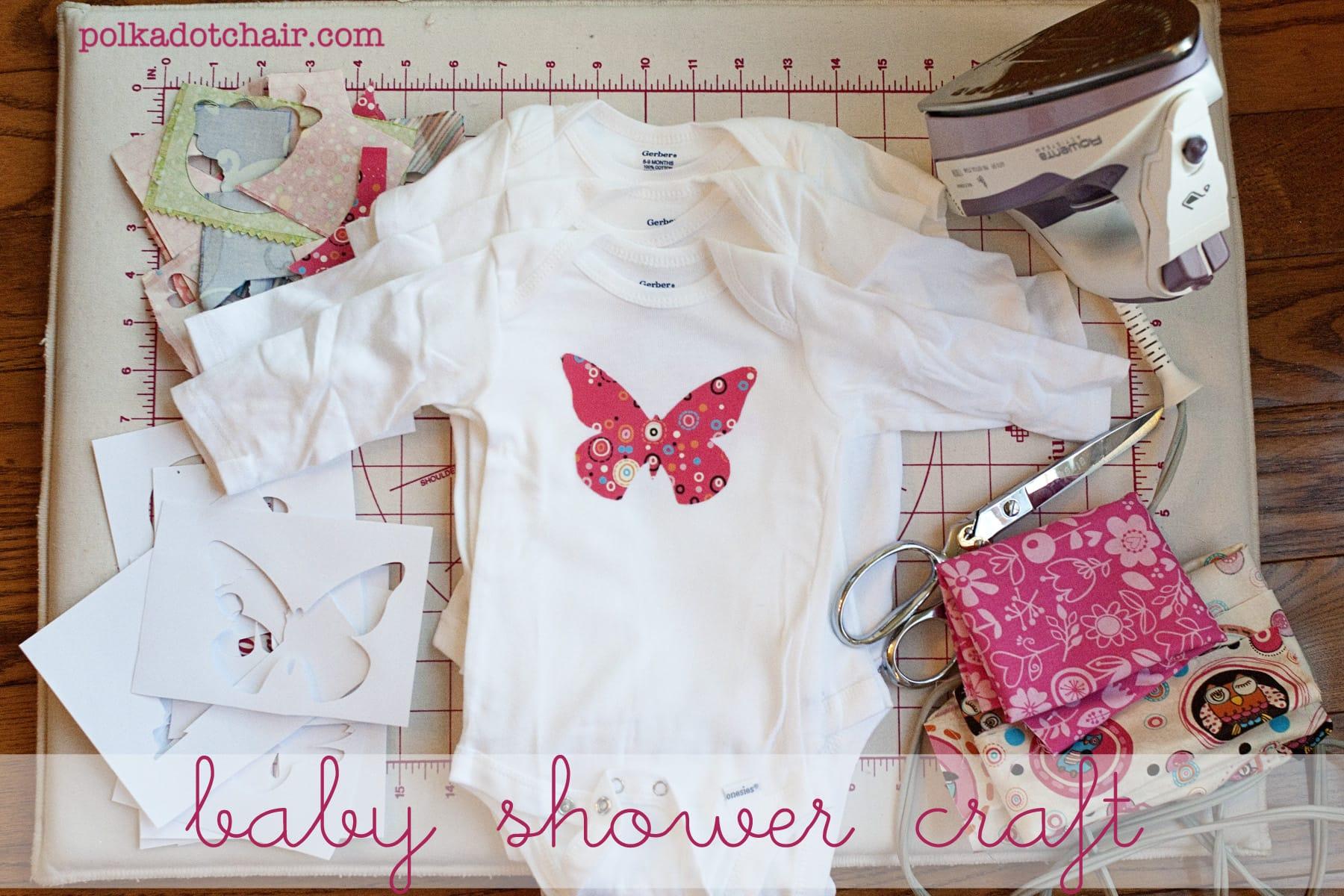 baby shower craft idea decorate onesies