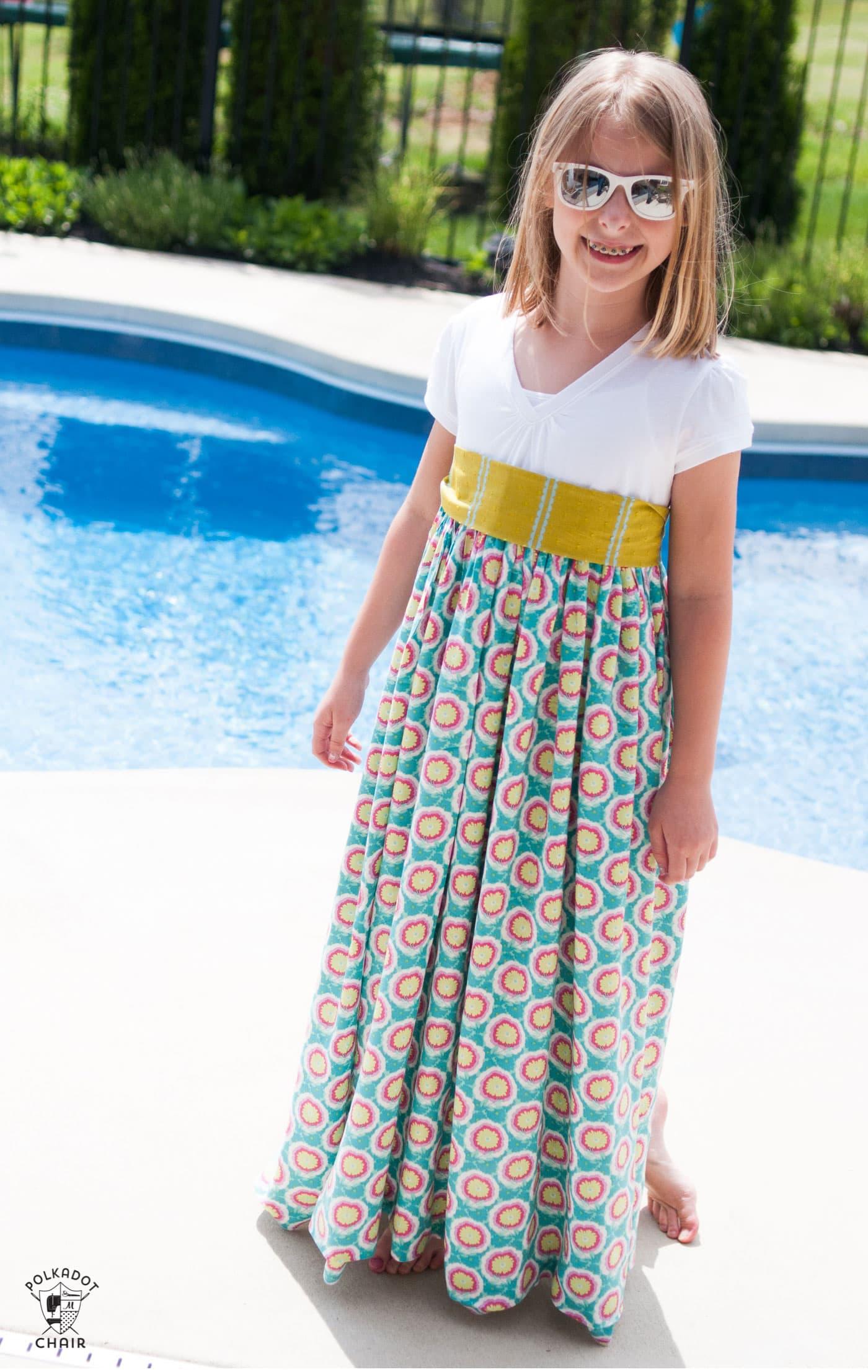 Free girls maxi dress pattern