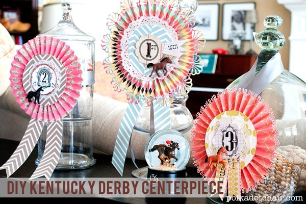 DIY Kentucky Derby Centerpieces