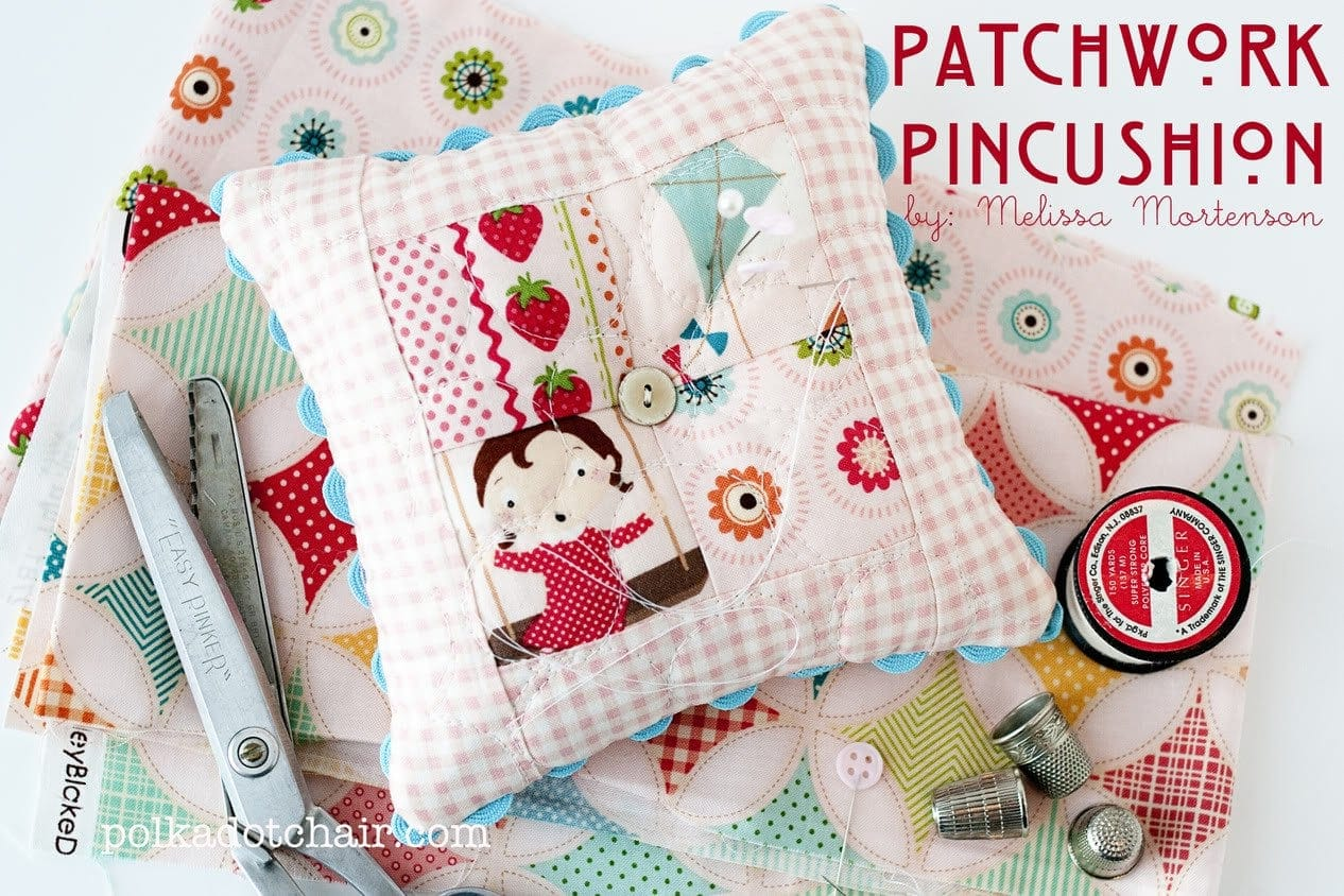 Patchwork Pincushion Tutorial - The Polkadot Chair : quilted pincushion patterns - Adamdwight.com