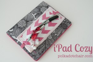 iPad Cozy Pattern- never lose your earphones or stylus again!
